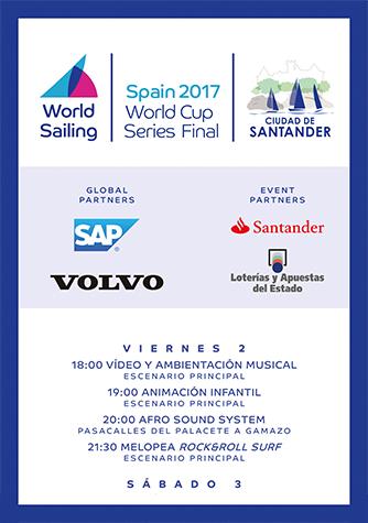 Programación Copa del Mundial de Vela 2017