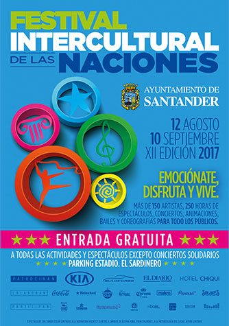 Cartel Festival Intercultural de las Naciones Santander 2017