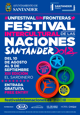 Cartel Institucional Festival Intercultural de las Naciones Santander 2018