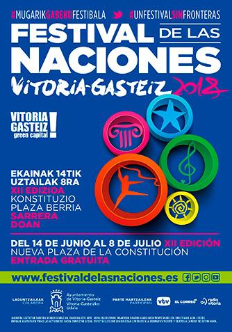 Cartel Festival de las Naciones Vitoria-Gasteiz 2018
